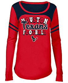 5th & Ocean Houston Texans Sleeve Stripe Long Sleeve T-Shirt, Girls (4-16)