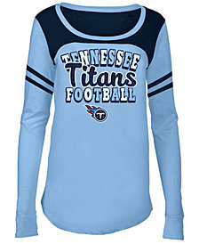 5th & Ocean Tennessee Titans Sleeve Stripe Long Sleeve T-Shirt, Girls (4-16)
