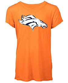 5th & Ocean Denver Broncos Logo T-Shirt, Girls (4-16)
