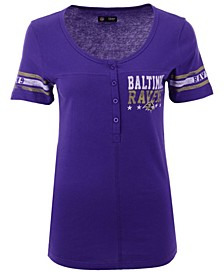 Women's Baltimore Ravens Button Down T-Shirt