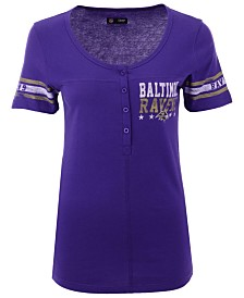 5th & Ocean Women's Baltimore Ravens Button Down T-Shirt