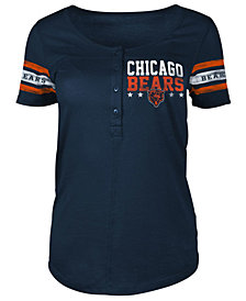 5th & Ocean Women's Chicago Bears Button Down T-Shirt