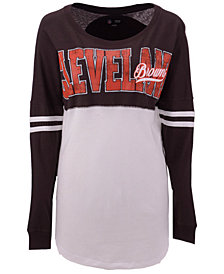 5th & Ocean Women's Cleveland Browns Sweeper Long Sleeve T-Shirt