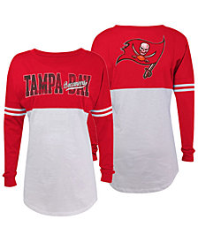 5th & Ocean Women's Tampa Bay Buccaneers Sweeper Long Sleeve T-Shirt