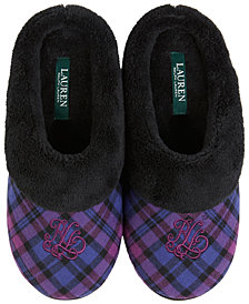 Lauren Ralph Lauren Plush Clog Slippers