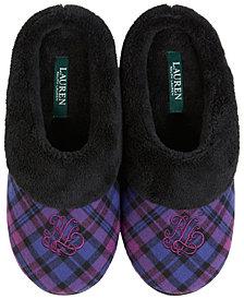 Lauren Ralph Lauren Plush Clog Slippers
