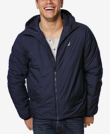 Nautica Men's Rip-Stop Hooded Jacket