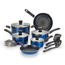 T-fal Cook & Strain 14-Pc. Non-Stick Cookware Set