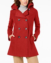 996033f52d7 Nautica Double-Breasted Hooded Peacoat