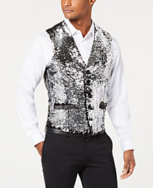 I.N.C. Men's Slim-Fit Reversible Sequined Vest, Created for Macy's