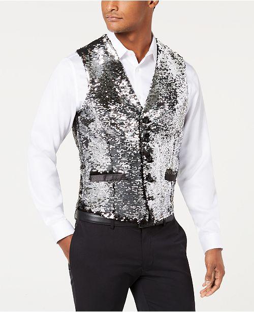 1f9186c7a580 ... INC International Concepts I.N.C. Men s Slim-Fit Reversible Sequined  Vest