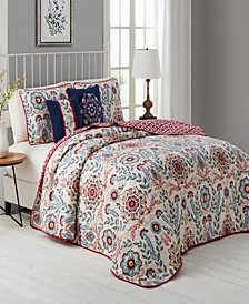 Valena 5 Pc Queen Quilt Set
