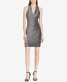 American Living Metallic Surplice Dress