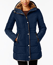 Cole Haan Signature Faux-Fur-Lined Puffer Coat