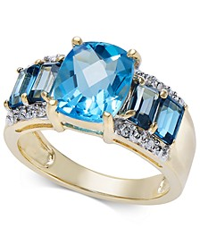 Blue Topaz (5-1/3 ct. t.w.) & Diamond Accent Ring in 10k Gold