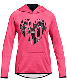 Under Armour Big Girls Heart-Print Hoodie