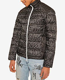 Armani Exchange Mens Oversized Block Logo Jacket