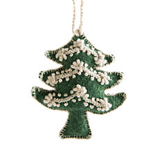 Global Goods Partners Embroidered Woolen Tree Ornament
