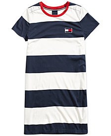 Tommy Hilfiger Women's Short-Sleeve Striped Dress from The Adaptive Collection