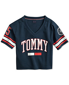 Tommy Hilfiger Adaptive Women's Logo Jersey with Magnetic Closures at Shoulders