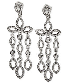 Anne Klein Crystal Clip-On Chandelier Earrings, Created for Macy's
