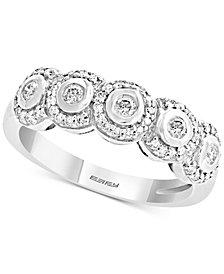 EFFY® Diamond Bezel Halo Ring (1/3 ct. t.w.) in 14k White Gold