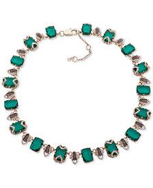 "Jenny Packham Gold-Tone Crystal & Stone Collar Necklace, 16"" + 2"" extender"