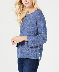Charter Club Boat-Neck Marled-Knit Sweater, Created for Macy's