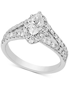 Diamond Marquise Engagement Ring (1-1/2 ct. t.w.) in 14k White Gold