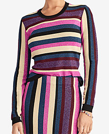 RACHEL Rachel Roy Metallic Strappy-Back Sweater, Created for Macy's
