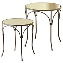 Set of 2 Joenah Round Side Table, Quick Ship