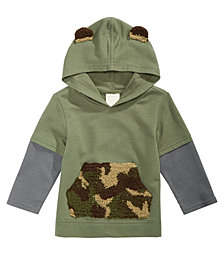 First Impressions Baby Boys Hooded Layered-Look Top