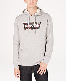 Levi's® Men's Nitch Fleece Plaid Logo Hoodie