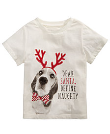 First Impressions Toddler Boys Dear Santa-Print Cotton T-Shirt, Created for Macy's