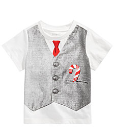 First Impressions Toddler Boys Tie & Vest Cotton T-Shirt, Created for Macy's