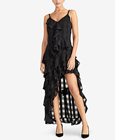 RACHEL Rachel Roy Remi Ruffled Checkered Dress, Created for Macy's