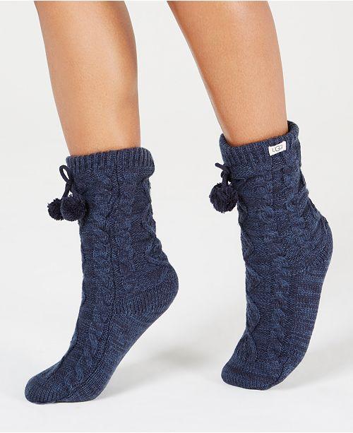 UGG® UGG Pom Pom Fleece Slipper Socks