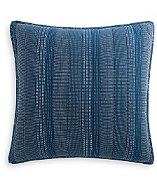 Lucky Brand Running Stitch Quilted Reversible European Sham, Created for Macy's
