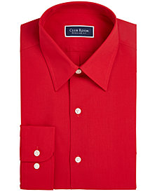 Club Room Men's Classic/Regular Fit Solid Dress Shirt, Created for Macy's