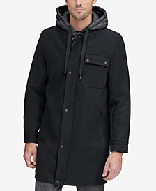 Men's Baseball Coat with Removable Hood