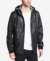 8284599f4f8 Levi s® Men s Faux-Leather Perforated Hooded Jacket