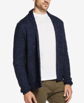 Weatherproof Mens Marled Cardigan Sweater