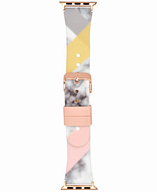 I.N.C. Women's Marble & Color Block Silicone Apple Watch® Strap, Created for Macy's