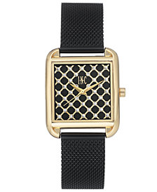 I.N.C. Women's Black Stainless Steel Mesh Bracelet Watch 30x37mm, Created for Macy's