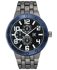 I.N.C. Men's Gunmetal Bracelet Watch 50mm, Created for Macy's