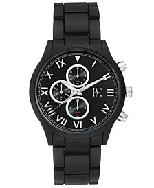 I.N.C. Men's Matte Black Bracelet Watch 42.5mm, Created for Macy's
