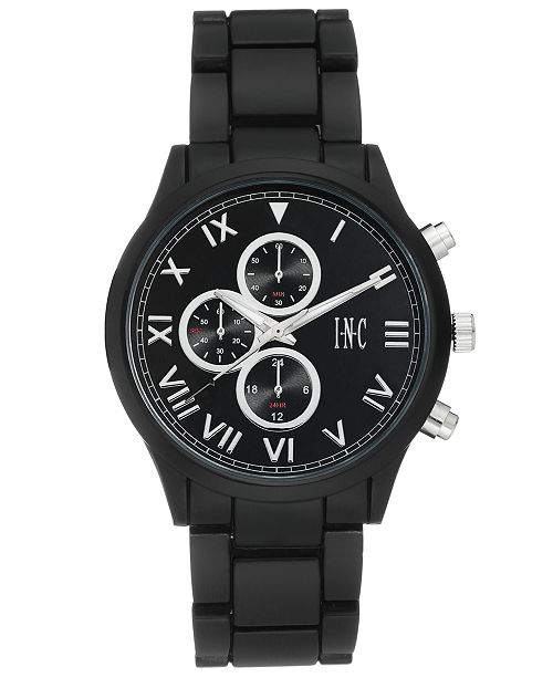 INC International Concepts I.N.C. Men's Matte Black Bracelet Watch 42.5mm, Created for Macy's