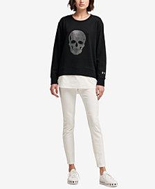 DKNY Skull-Graphic Sweatshirt, Created for Macy's