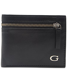 GUESS Men's Gable Zip Leather Wallet