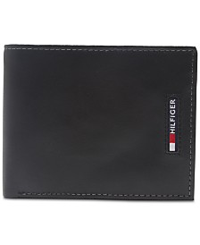 Tommy Hilfiger Men's Slim Extra-Capacity Leather Wallet